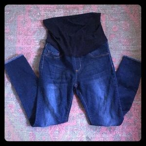 S.O.N.G maternity jeans with cut bottoms size S